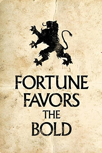 Fortune Favors the Bold Motivational Latin Proverb Art Print with Poster Hanger
