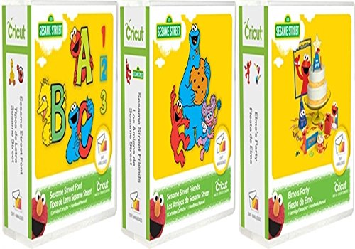 Cricut Cartridge Bundle: Elmo's Party Sesame Street & Sesame Street Font and Sesame Street Friends by Cricut