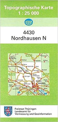 Topographische Karte Thüringen.Nordhausen Nord 4430 Topographische Karten 1 25000 Tk 25 Thüringen