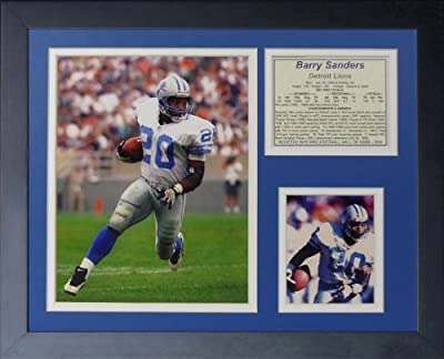 "Legends Never Die ""Barry Sanders Away"" Framed Photo Collage, 11 x 14-Inch"