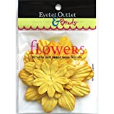 Eyelet Outlet FLW-F9A Flowers 40/Pkg-Yellow