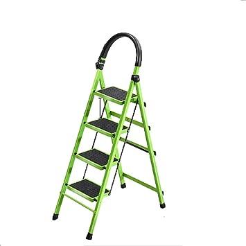 Casa Engrosamiento de hierro escaleras de tijera, de cuatro pasos de Doble Uso de la escala