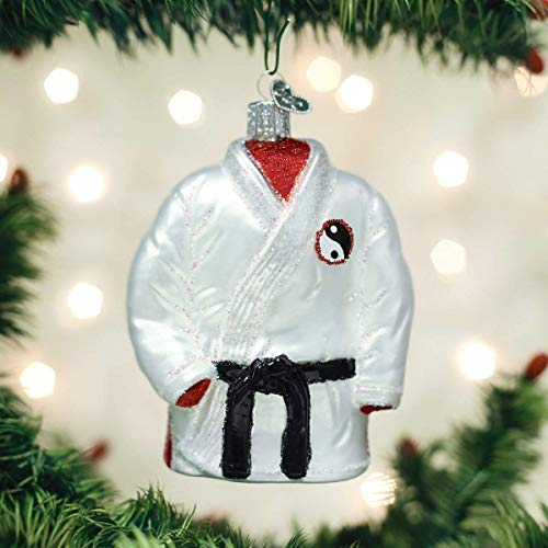 Old World Christmas Sports Collection Glass Blown Ornaments for Christmas Tree Martial Arts Robe Art Glass Christmas Tree Ornament