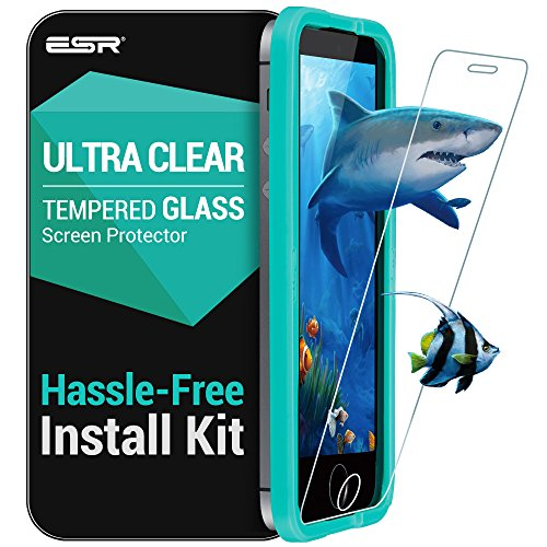 ESR iPhone SE Screen Protector, Triple Strength 9H Tempered Glass Screen Protector with Free Applicator [Anti-Fingerprint, Bubble-Free Installation] for Apple iPhone SE / 5S / 5 / 5C_Clear (2 Pack)