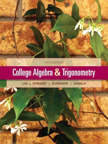 College Algebra and Trigonometry (5th Edition) Pdf
