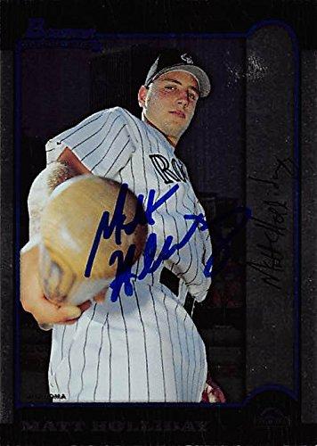Matt Holliday autographed baseball card (Colorado Rockies, FT) 1999 Bowman Rookie Oklahoma (Matt Holliday Autographed Baseball)