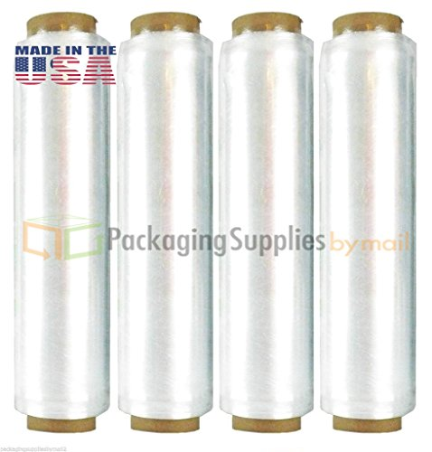 16 Rolls Hand Earth Wrap Advanced Pre-Stretch Film w/ Folded Edge 18'' x 1476', 7 mic by PackagingSuppliesByMail