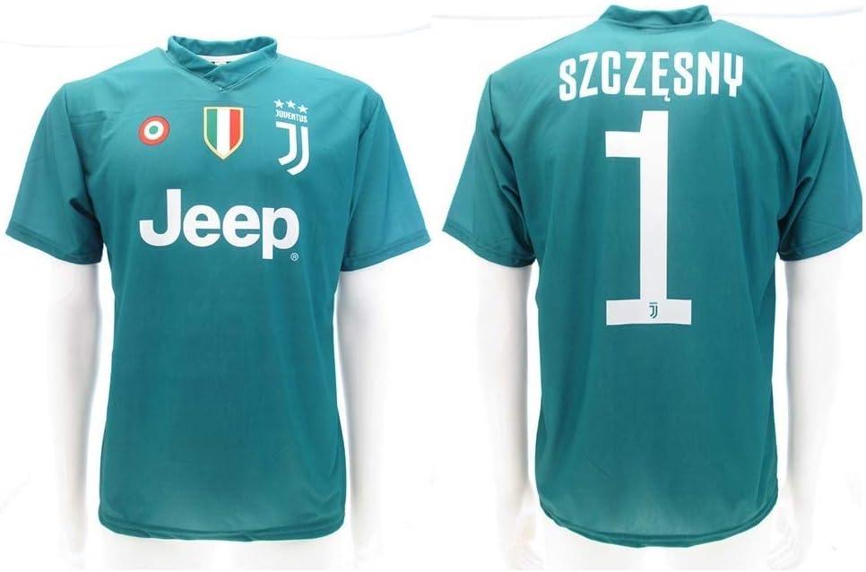 Camiseta de Fútbol Wojciech SZCZĘSNY Verde Portero 1 Juventus Home ...