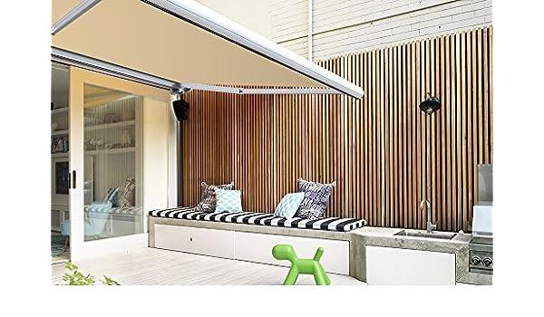 Store Banne exterior maletero completo motorizado y manual para terraza – blanco metálico – Dune -, duna, 4,5 x 3,5 m: Amazon.es: Hogar