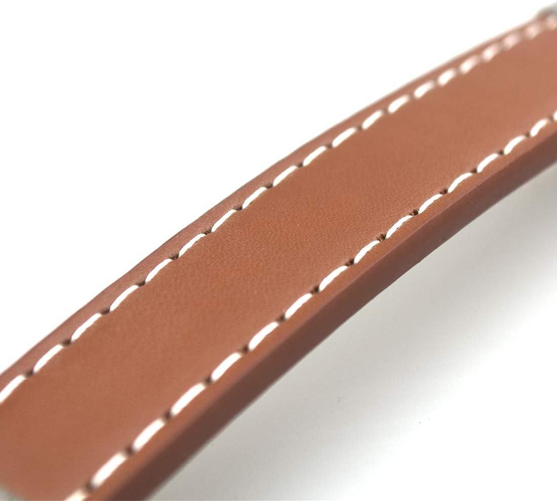 Brown la Distance de Trou: 160mm la Salle d/étude avec la vis Le Salon Yxtai Le tiroir en Cuir 10PCS Tire des poign/ées de Cabinet Deux Trous pour Le Placard