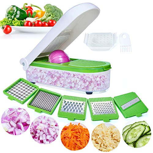 Vegetable Chopper,Pro Onion Chopper Slicer Dicer Cutter - Cheese & Veggie Chopper - Food Chopper Dicer with 5 Blades
