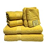 THE DELUXE/ESPALMA Towel Set, Canary, 6 Piece