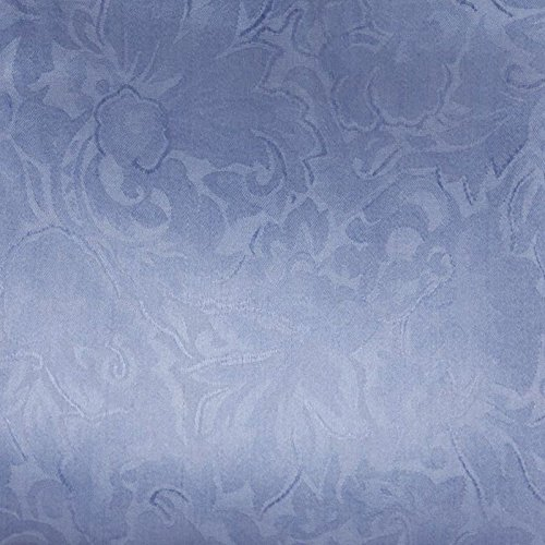 Wyoming Traders Mens Jacquard Silk Wild Rag Scarf Slate Blue