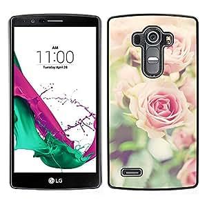 Ruses Focus Flores Campo Verde de Verano - Metal de aluminio y de plástico duro Caja del teléfono - Negro - LG G4