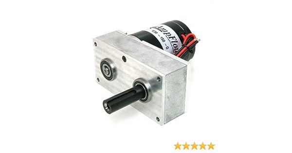 AmpFlow A28-400 Brushed Electric Motor 4900 rpm 24V or 36 VDC 12V