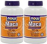 NOW Foods Maca 500mg, 250 Caps (2 Pack)