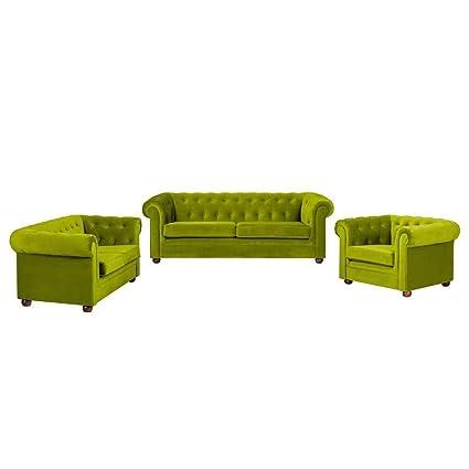 Genial Baudriana 3+2+1 Sofa Set Sofa In Green Colour