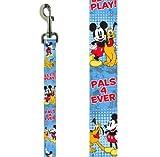 "Platinum Pets Disney 1"" X 6' Nylon Leash with Mickey Mouse Design"