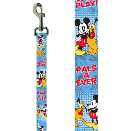"Platinum Pets Disney 1"" X 6' Nylon Leash with Mickey Mouse Design"