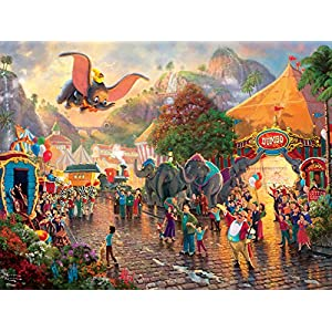 Ceaco Thomas Kinkade Disney Princess Collection Dumbo Jigsaw Puzzle, 300 Pieces