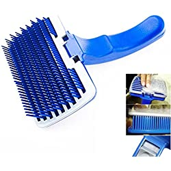 New Pet Dog Cat Grooming Self Cleaning Slicker Brush Comb Shedding Tool Hair Fur by Pet Brushes