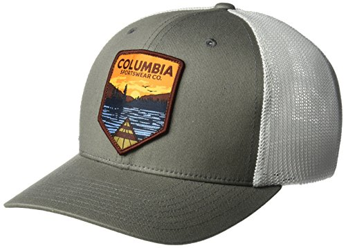 Columbia Men's Mesh Ball Cap, Titanium Water Patch, S/M