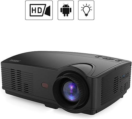 WZHESS Proyector LED HD, Pantalla Grande de 100 Pulgadas, Haz de ...