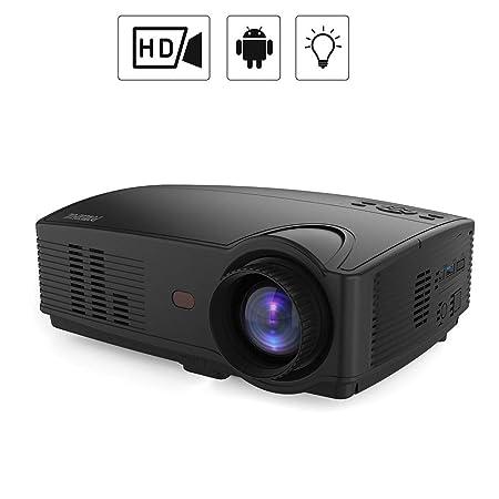 WZHESS Proyector LED HD, Pantalla Grande de 100 Pulgadas ...