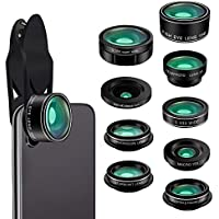 Cell Phone Camera Lens, Kaiess 9 in 1 Wide Angle...