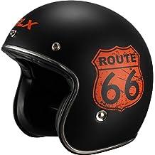 GLX Scooter Bobber Cruiser Open Face Motorcycle Helmet (Historic, X-Large) (DOT 3/4 Euro Retro)