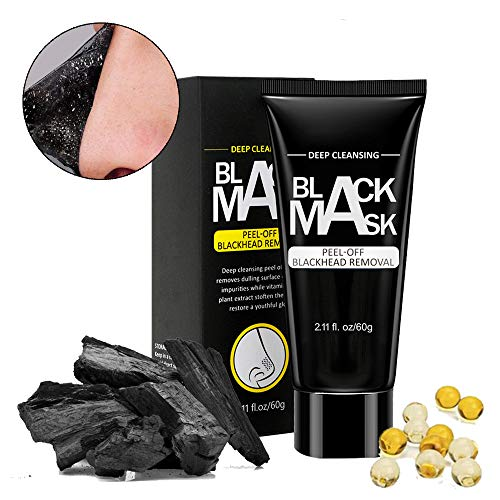 Maksuzee Blackhead Remover Mask, Blackhead Peel Off Mask for Purifying Face and Nose 2.11fl.oz/60gram