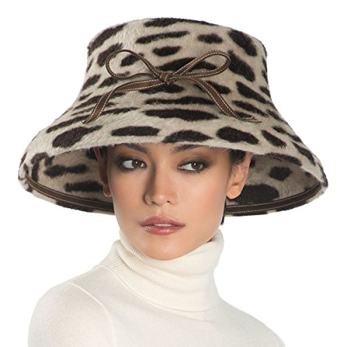 Eric Javits Women's Headwear Funny Face Hat (Brown/Spots) by Eric Javits