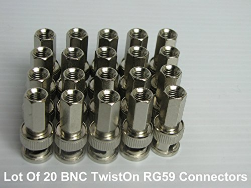 75 Ohm Bnc Twist - BNC TWIST-ON RG59 75 OHM PROFESSIONAL COAXIAL CONNECTOR (20) PACK