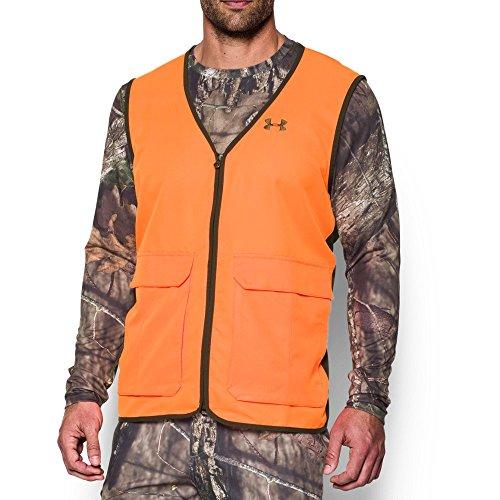 laze Antler Logo Hunting Vest, Blaze Orange (825)/Timber, X-Large (Browning Safety Blaze)
