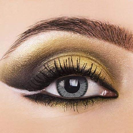 1d8d63081bf625 Gris – Lentilles de contact colorées Contact souples pouvant tenir lieu de  lentilles annuelles Sans