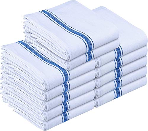 Utopia Towels Kitchen Towels 12 Pack, 15 x 25 Inches Cotton Dish Towels, Tea Towels and Bar Towels, Blue