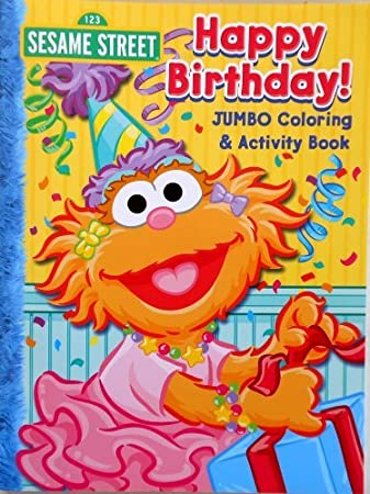sesame street coloring book happy birthday
