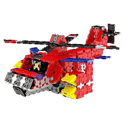 WEofferwhatYOUwant Educational Building Brick Helicopter Figure - 3D STEM Construction Uses 577 Flatblocks Pieces. Creates Different Designs for Children 7 Years and up