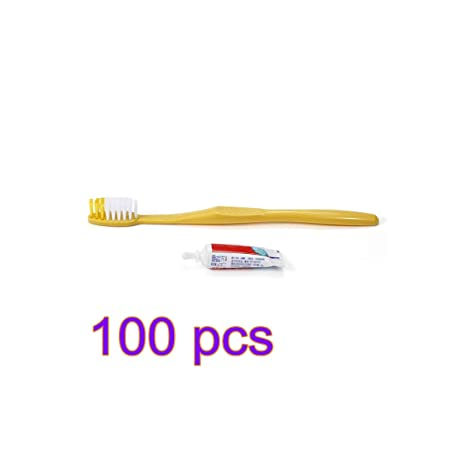 Kit de lavado de pasta de dientes desechable, cepillo de dientes de cerdas suaves,