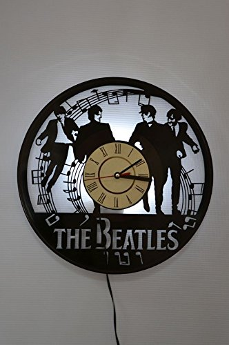 NICE STUFF ONLY The Beatles Wall Light Clock - Original Home Interior Decor - Wall Clock for Men and Women (White)