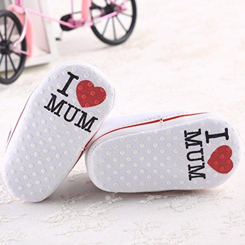 Calzado 0 Con Deporte Zapatilla Suave Infantil Antideslizante 18 Meses Por A Blanco Zapatillas Lindo Bebé Lona Auxma De rqwxt5rY