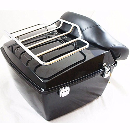 Harley Tour Pack Pak Trunk Luggage For Road King Electra Glide 97-08 W/ Top Rack by ECOTRIC (Image #6)'