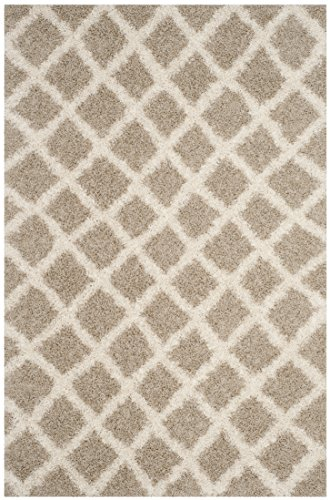 Safavieh Dallas Shag Collection SGDS258D Beige and Ivory Area Rug (8' x 10') (In Dallas Best 10 Patios)