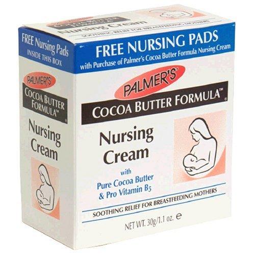 Palmer's Cocoa Butter Formula Nursing Cream, 1.1 Oz, Plus 4 Nursing Pads (Pack of 4)