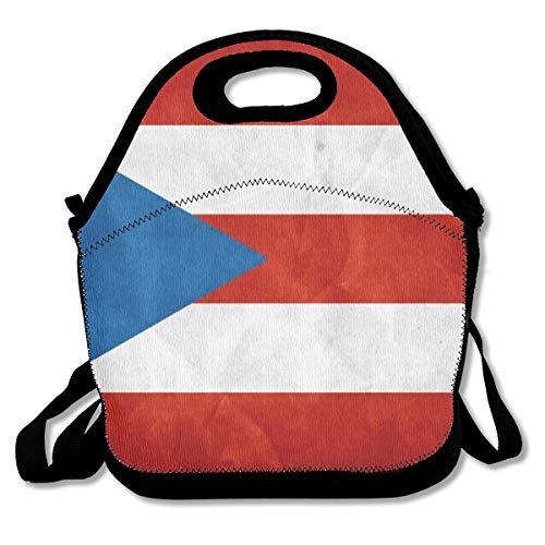 Premium Compact Lunchbox Handbag Puerto Rico Flag Food Container Leakproof Insulated Interior Container for School Work Office Outdoor Picnic Meal Prep