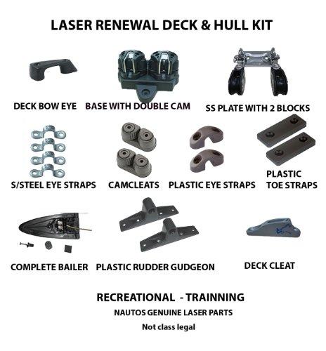 Sailboat Parts (Nautos-LASER PARTS-17 PARTS RENEWAL LASER DECK KIT - LASER SAILBOAT)