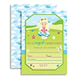 "Magical Fairy Princess Birthday Party Invitations, 20 5""x7"" Fill in Cards with Twenty White Envelopes by AmandaCreation"