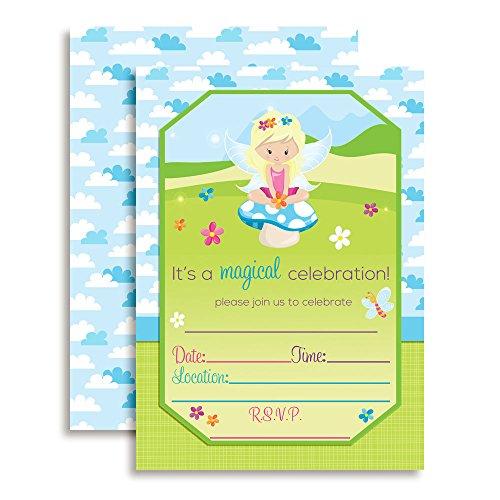 Fairy Invitations - Magical Fairy Princess Birthday Party Invitations, 20 5