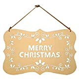 May your Christmas cheery and bright ... with this festive MERRY CHRISTMAS decorative hanging sign.  Rustic Decor  With plain plaque, hollowed-out letters and wreath sign and jute string, the plaque is a perfect addition for your Christmas d...