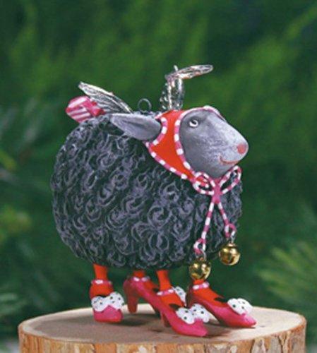 Patience Brewster Krinkles Mini Barbara Black Sheep Figural Ornament 08-30955